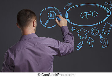 Business, Technology, Internet and network concept. A young...