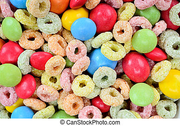 color cereal with candy