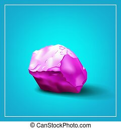 Image ice cube - Design logo. Ice cube. 3d. Abstract pink...
