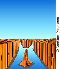 Image canyon landscape - Canyon landscape. Wild rocks....