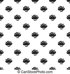 Flame and smoke pattern vector