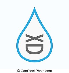 Isolated water drop with   a laughing text face