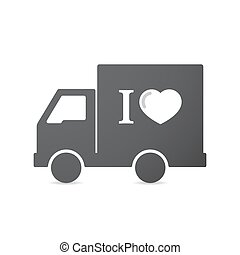 """Isolated truck with an """" I like"""" glyph - Illustration of an..."""