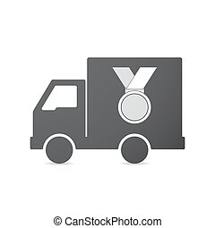 Isolated truck with  a medal
