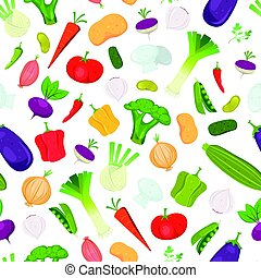 Seamless Vegetables Background - Illustration of a seamless...