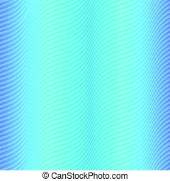 Wavy Striped Pattern of Dark and Light Blue Colors. Satin...