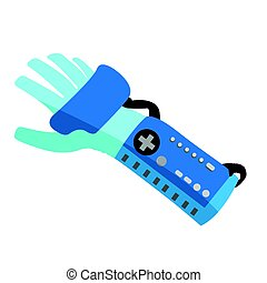 Virtual reality gloves - Isolated virtual reality gloves on...