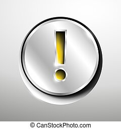 Image chrome icon - 3d logo of chrome attention button.