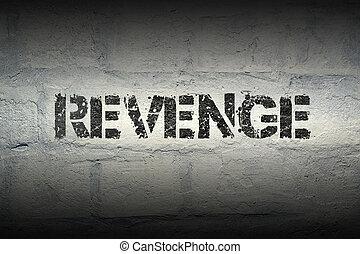 revenge word gr - revenge stencil print on the grunge white...