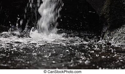 Waterfall detail slow motion - Waterfall panning slow motion...