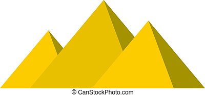 Egyptian Giza pyramids icon isolated - Egyptian Giza...