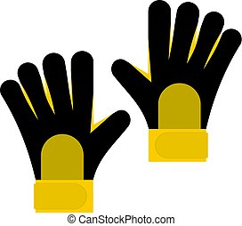 Soccer goalkeepers gloves icon isolated