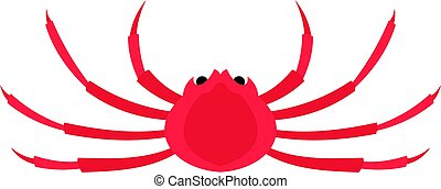 Japanese spider crab icon isolated