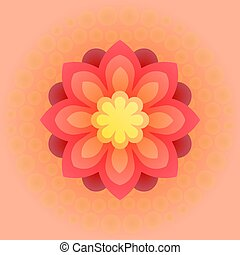 Beautiful colorful flower. Vector illustration. - Big...