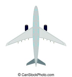 Airplane top view