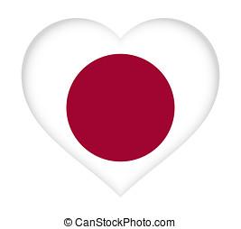 Flag of Japan Heart.