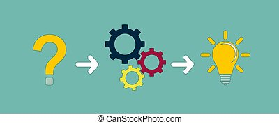 thinking or problem solving business concept . Stock vector...