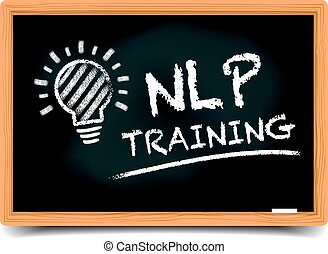 Blackboard NLP Training - detailed illustration of a...