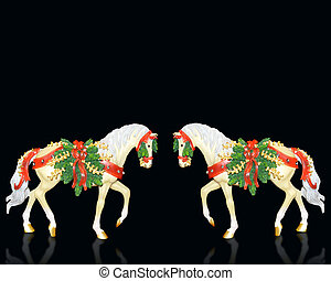 Christmas greeting card - Image and illustration composition...