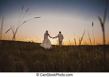 coppia, ballo, matrimonio