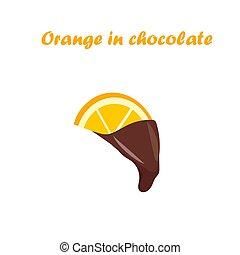 orange in chocolate - Very high quality original trendy...