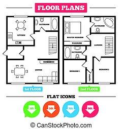 Sale arrow tag icons. Discount symbols. - Architecture plan...