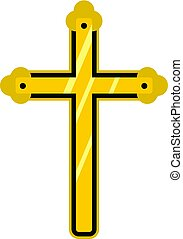 Holy cross icon isolated - Holy cross icon flat isolated on...