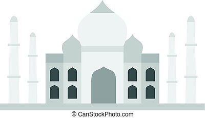 Taj Mahal icon isolated - Taj Mahal icon flat isolated on...