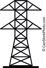 Electric power station icon isolated