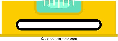 Yellow working tool bubble level icon isolated
