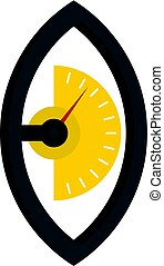 Hand power meter icon isolated - Hand power meter icon flat...