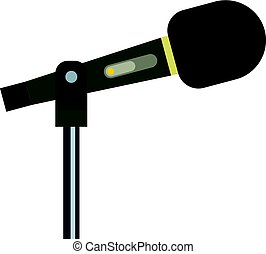 Sound recording equipment icon isolated