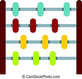 Children abacus icon isolated - Children abacus icon flat...