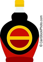 Bottle of maple syrup icon isolated - Bottle of maple syrup...