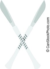 Crossed scalpels icon isolated - Crossed scalpels icon flat...