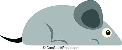 Gray mouse icon isolated