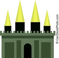 Ancient castle palace icon isolated