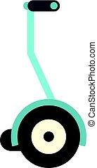 Segway icon isolated - Segway icon flat isolated on white...