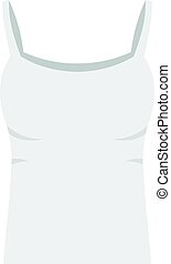 White woman tank top icon isolated