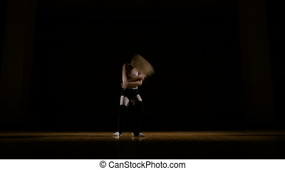 Contemporary dancer performing dance elements
