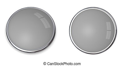3D Button Solid Grey - 40% - 3D button in solid 40 percent...