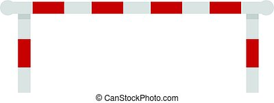 Striped barrier icon isolated - Striped barrier icon flat...