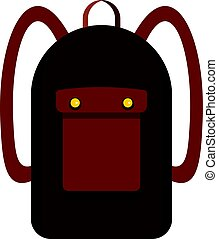 Backpack icon isolated - Backpack icon flat isolated on...