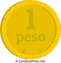 Peso icon isolated - Peso icon flat isolated on white...