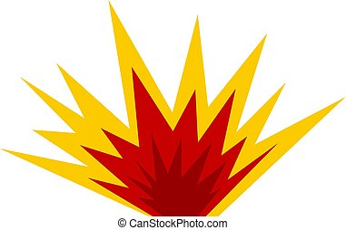 Nuclear explosion icon isolated - Nuclear explosion icon...