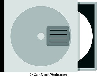 CD or DVD case icon isolated