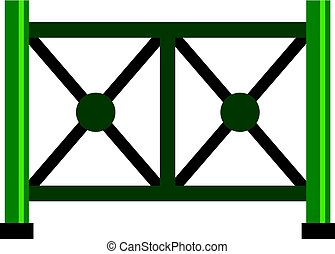 Metal fence icon isolated