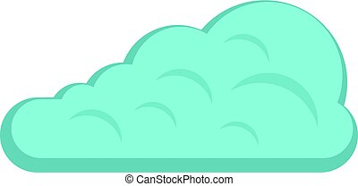 Cumulus cloud icon isolated - Cumulus cloud icon flat...