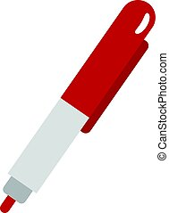 Red marker pen icon isolated