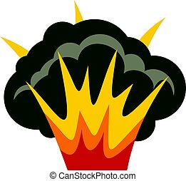 Projectile explosion icon isolated - Projectile explosion...